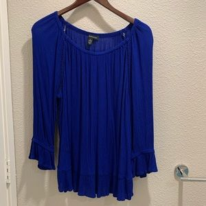 INC International Concepts Royal Blue Blouse